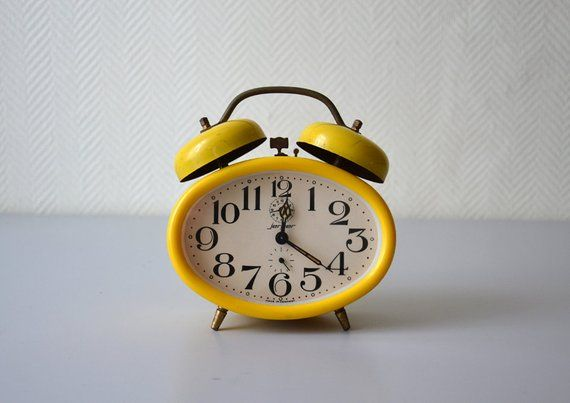 Vintage Alarm Clock Jerger Mechanical Alarm Clock Made In