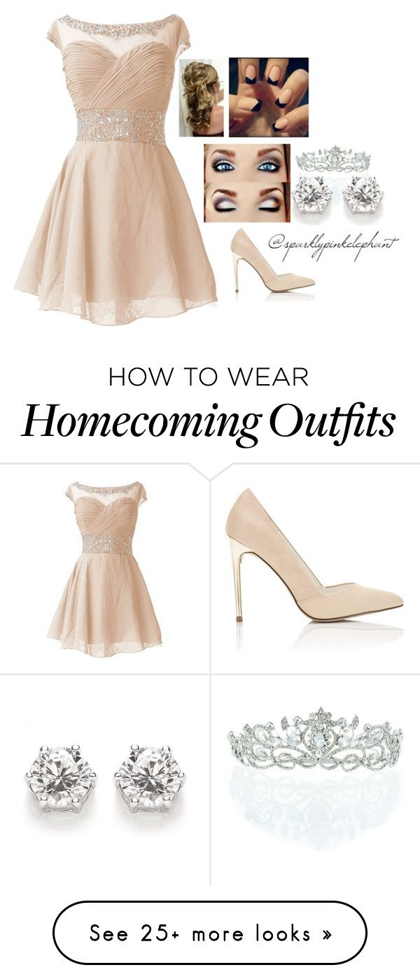 """Peachy Prom"" by sparklypinkelephant on Polyvore featuring Miss Selfridge and Kate Marie"