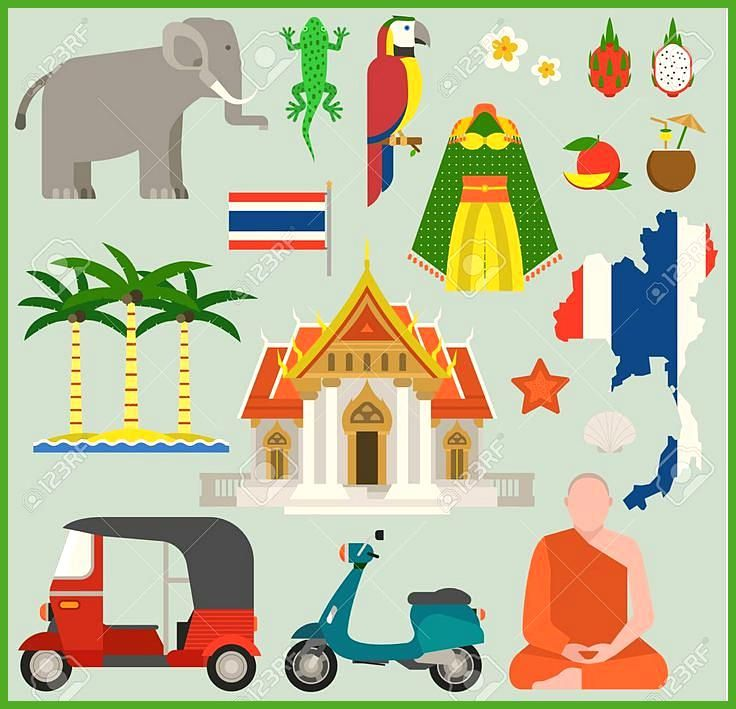 Travel thailand flat icons design vector illustration. Bangkok culture thailand …