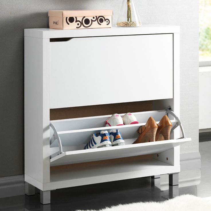 shoe cabinet with 2 drawers and steel details product shoe material engineered wood steel and two
