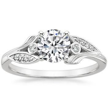 We've got information on the engagement ring trends you'll be seeing in 2016 - click to find out all of them, like the nature-inspired detail of this brilliant diamond ring.