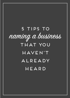 Naming a business can be difficult, but there's more than just demographics that you need to consider when deciding on the perfect name. Here are my 5 additional tips to getting a brand name that lasts!
