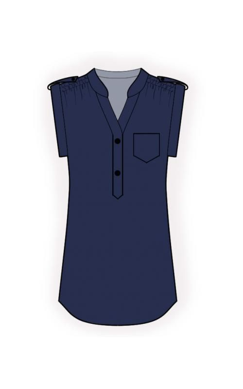 Tunic - Sewing Pattern #4550. Made-to-measure sewing pattern from Lekala with free online download.