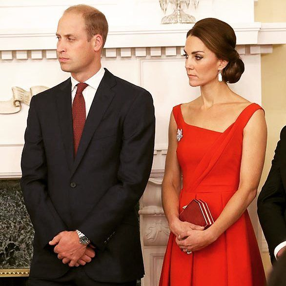 Prince William, Duke of Cambridge and Catherine, Duchess of Cambridge at a reception in the house of government in Victoria, Canada