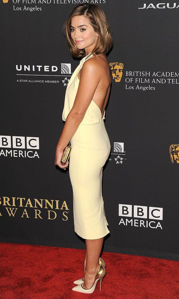 Doctor Who star Jenna Coleman shows off her slender figure at ...
