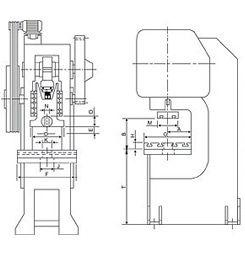 c-frame power press manufacturer india