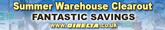 We are having a massive Summer Warehouse Clearout! Do not miss out on all the great offers www.directa.co.uk