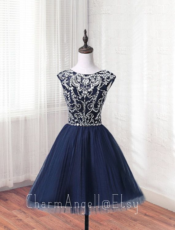 Hey, I found this really awesome Etsy listing at https://www.etsy.com/listing/286429623/gorgeous-navy-blue-a-lineprincess-scoop