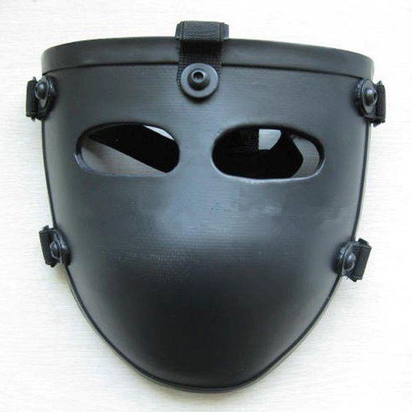 Top New Aramid Ballistic Visor Bullet Proof Face Shield Mask NIJ Level IIIA 3A