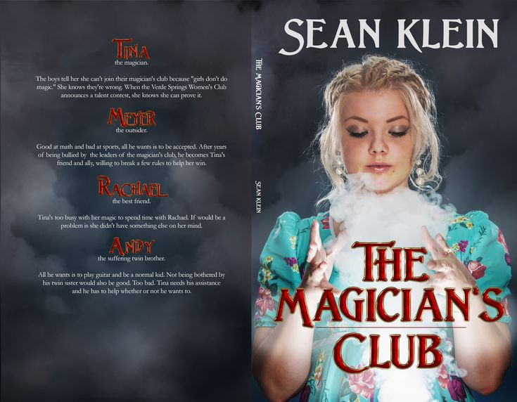 Full wrap cover for The Magician's Club, by my friend and Clarion West classmate, Sean Klein