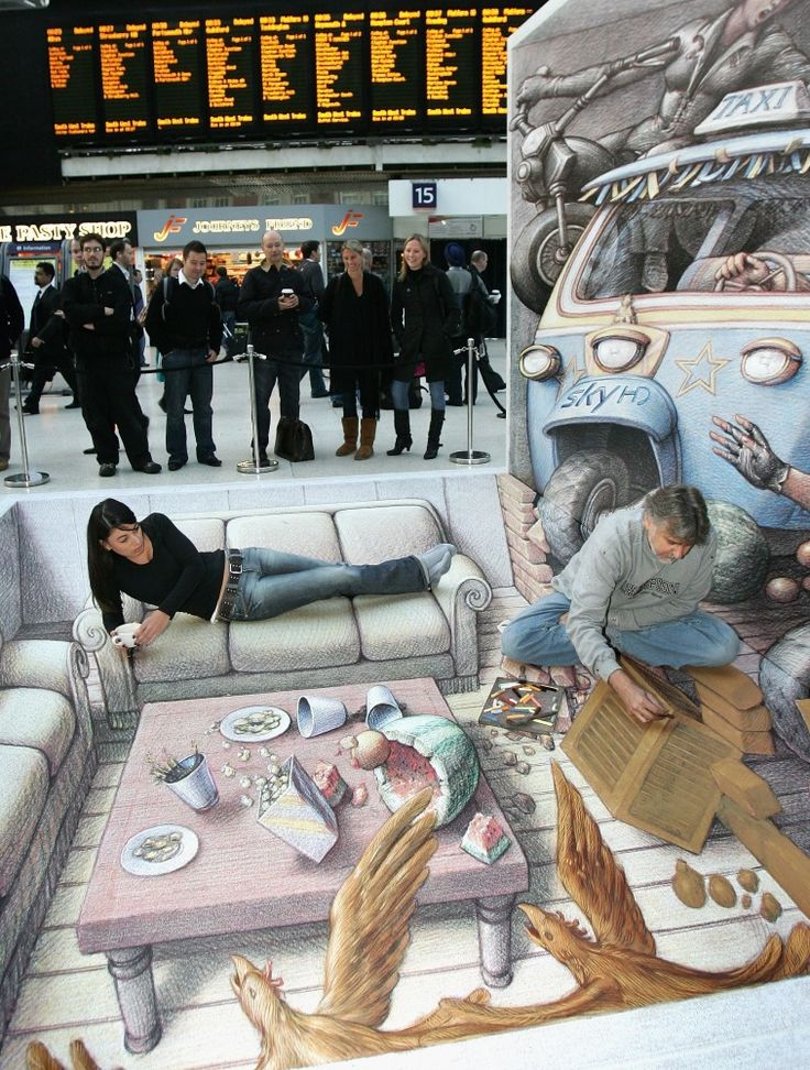 3D Street Art: 13 Amazing Optical Illusions Created By Chalk Artists (PHOTOS)