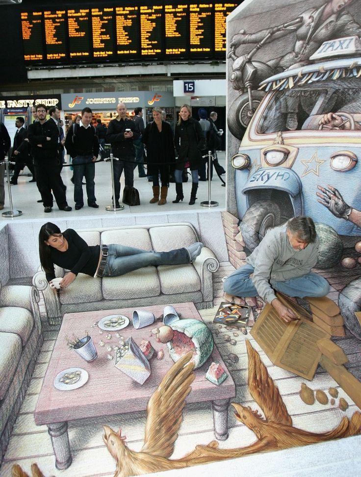 Best Street Art Images On Pinterest - 17 amazing works of 3d street art