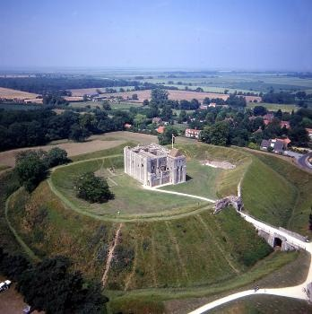Castle Rising photo taken from the air-great place in West Norfolk to visit with kids