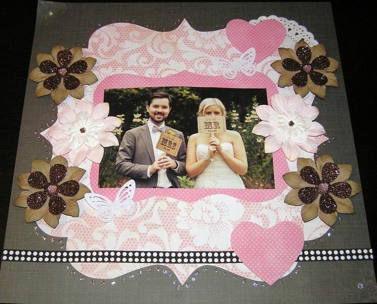 """SCRAPBOOK PAGE HANDMADE 12 X 12 """"No title""""...reduced to $9.99"""