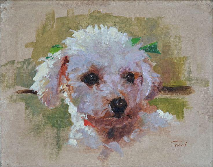 Patrick Saunders Fine Arts Dog Portrait Painting Oil