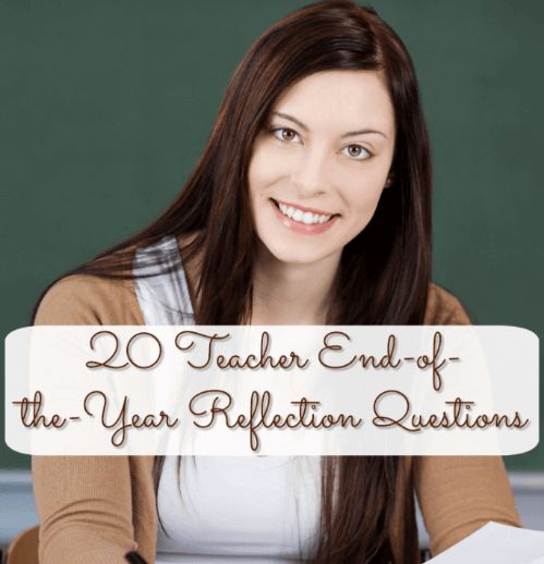 We always get students to complete reflection questions at the end of the year, but what about teachers? It's just as important for us to do this, too!