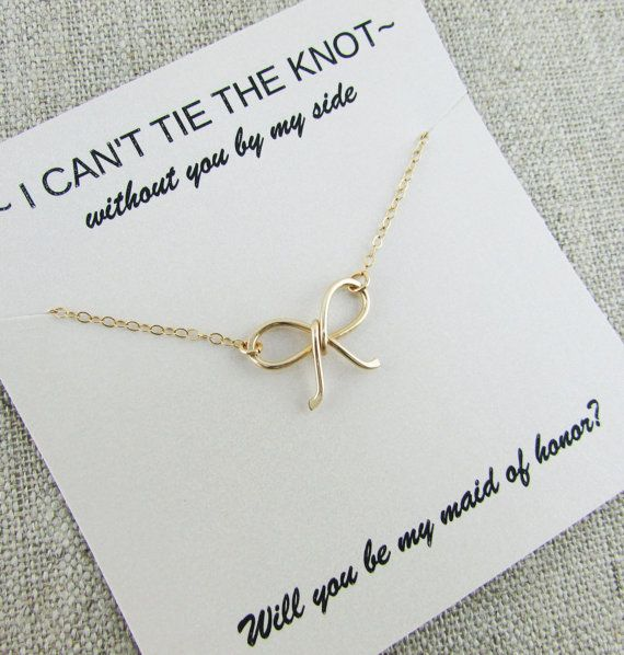 Tie-the-knot Necklace 14K Gold Filled Be My by deannewatsonjewelry