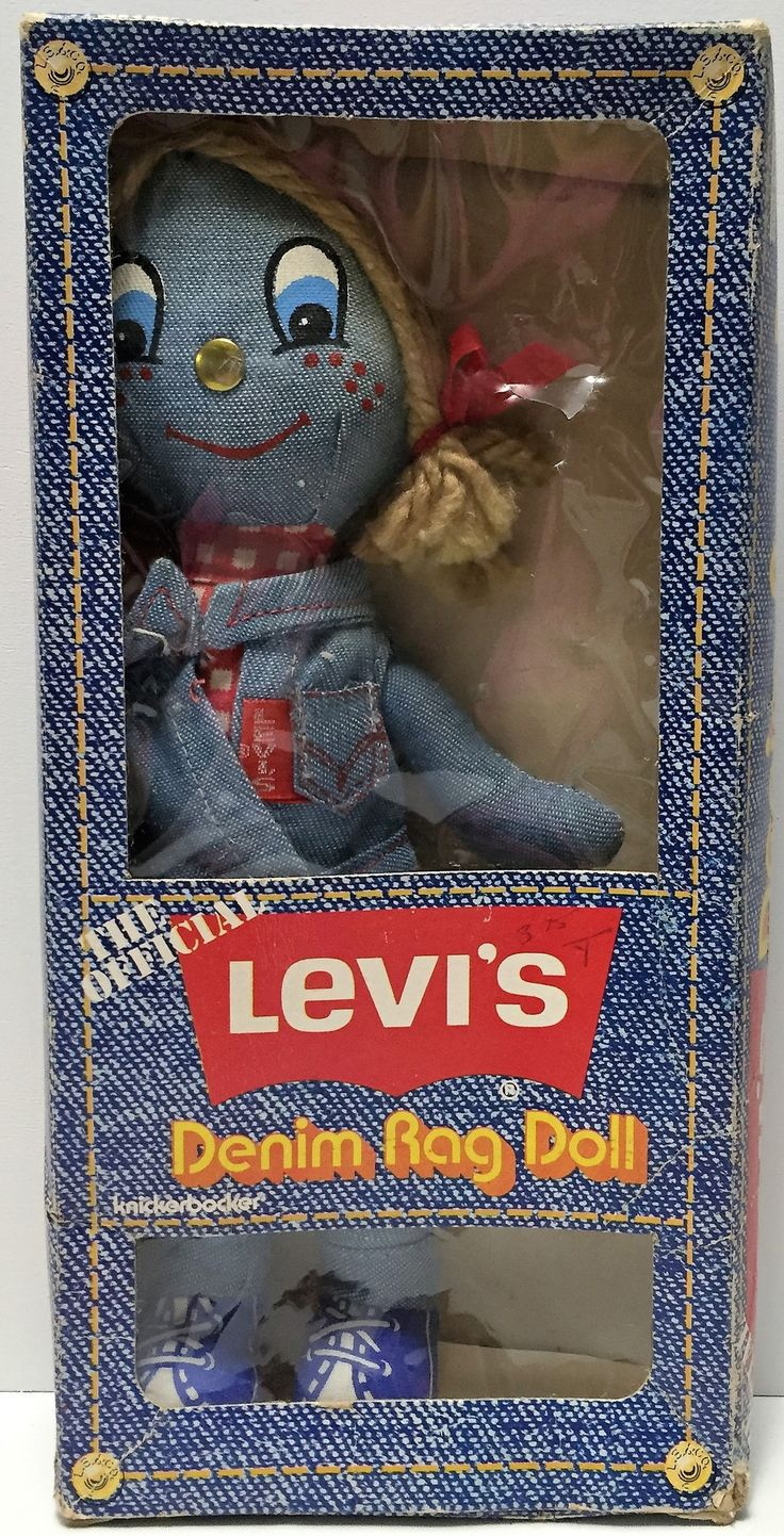 Claasic vintage toys vintage toys second shout out http www - 1973 Knickerbooker Toys The Official Levi S Denim Rag Doll This Item Is Not In Mint Condition
