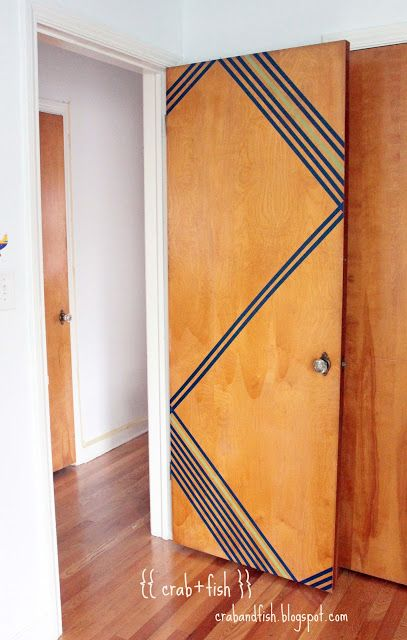 Geometric washi tape door design #DIY #washitape | crab+fish