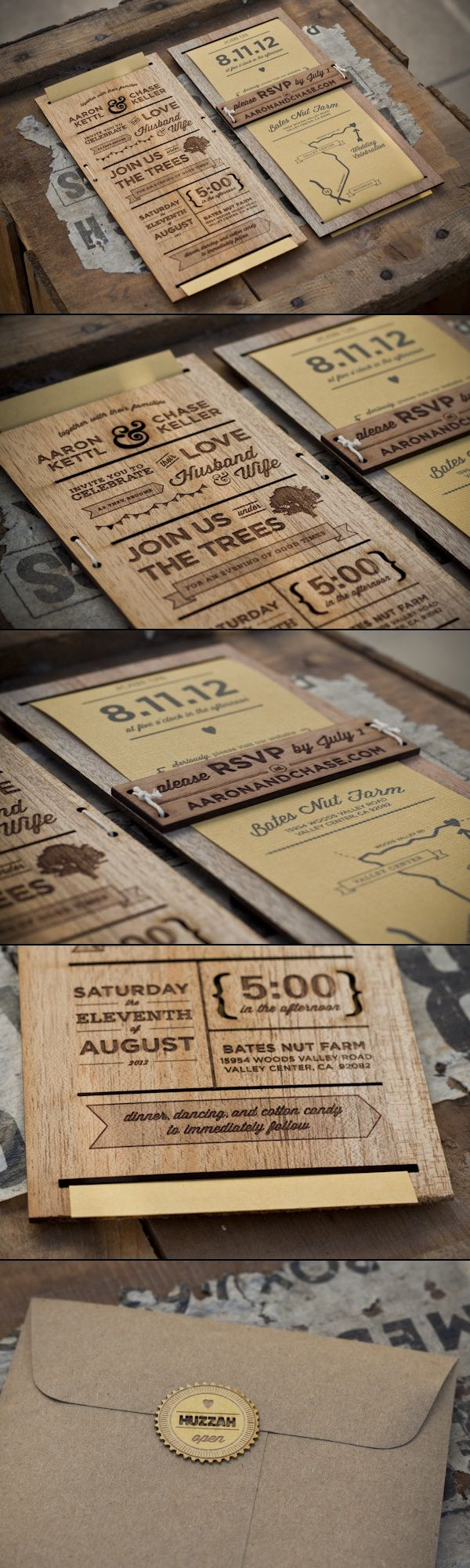 Personal Wedding Invitation Laser cut/engraved http://www.behance.net/gallery/Wedding-Invitation/5030949