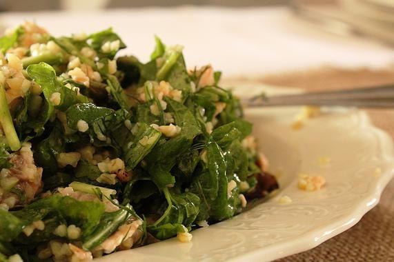 Cookwithme | Σαλάτα με πλιγούρι, ρόκα και φρέσκο σολωμό