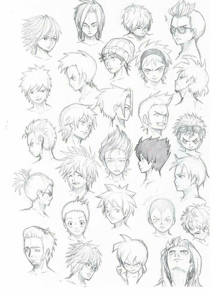 Drawing Anime Boy Hair Anime Drawings Anime Hair
