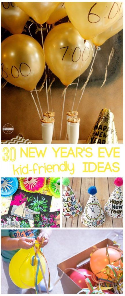 30 New Year's Eve for Kids ideas - so many clever, unique, and fun activities from kids party hats, time capsules, friends, life,  and more to have a fun family new year's eve party