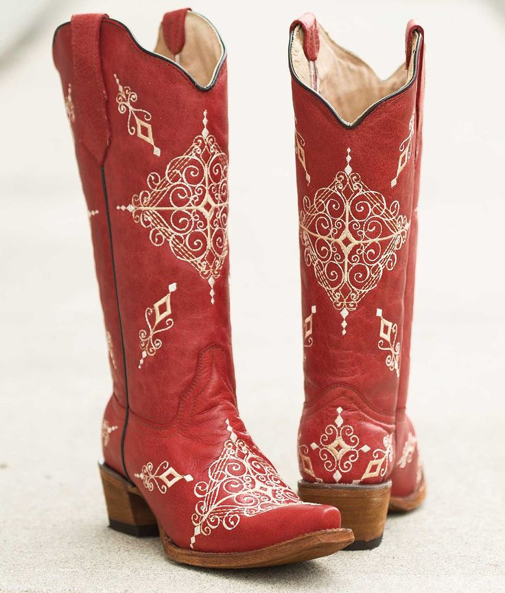 Cool Girl Cowboy Boots | Red Cowboy Boots For Women