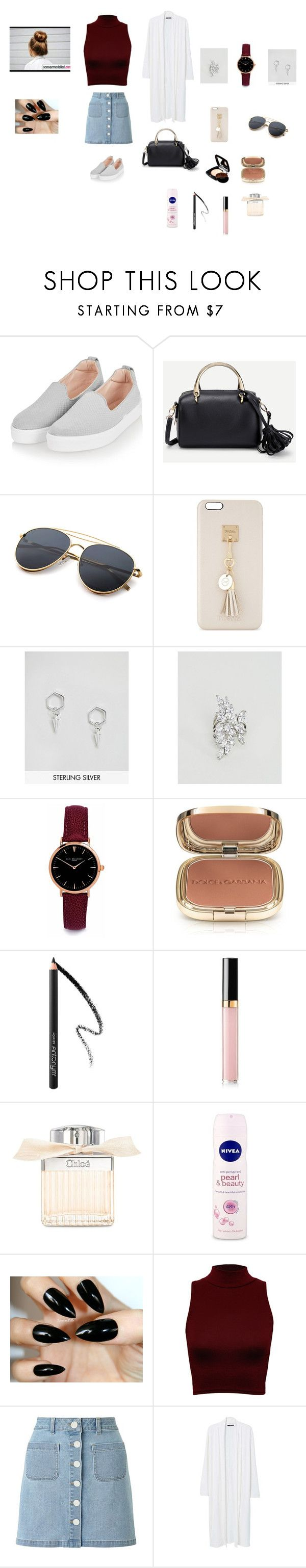 """""""🙂🙂"""" by aiea ❤ liked on Polyvore featuring Topshop, Iphoria, ASOS, ALDO, Elie Beaumont, Chanel, Dolce&Gabbana, Chloé, Nivea and WearAll"""