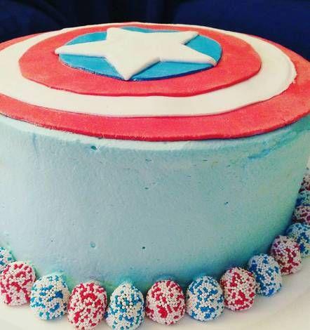 Tarta del capitán america