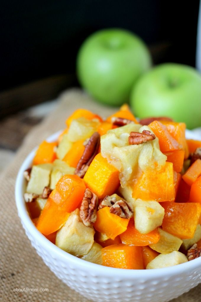 Maple Roasted Butternut Squash and Apples