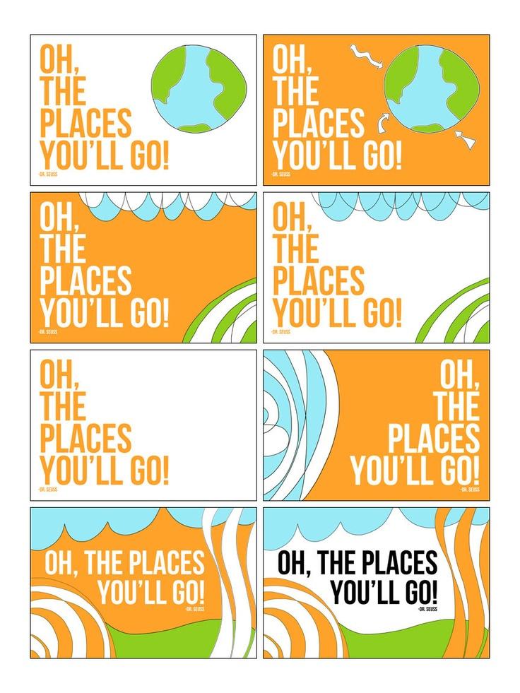Dr Seuss Nursery Wall Art 4 Oh The Places You Ll Go
