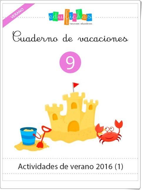Cuaderno de vacaciones de verano 9 para Educación Infantil (Edufichas.com)