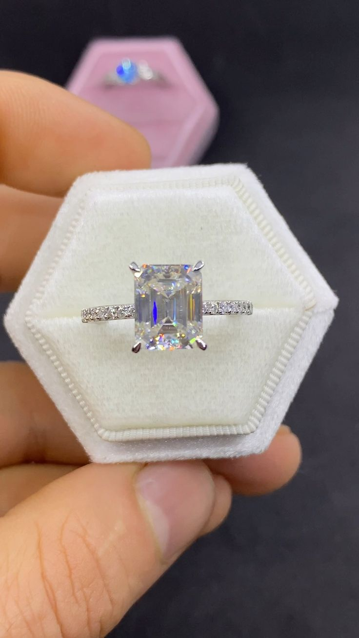 Affordable Engagement Rings, 2 Carat Engagement Ring, Asscher Cut Diamond Engagement Ring, Pretty Engagement Rings, Radiant Cut Engagement Rings, Timeless Engagement Ring, Colored Engagement Rings, Wedding Engagement, Girly Stuff