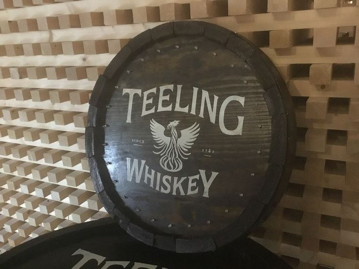 Teeling Whiskey barrel top with lights By RKD Floral Displays