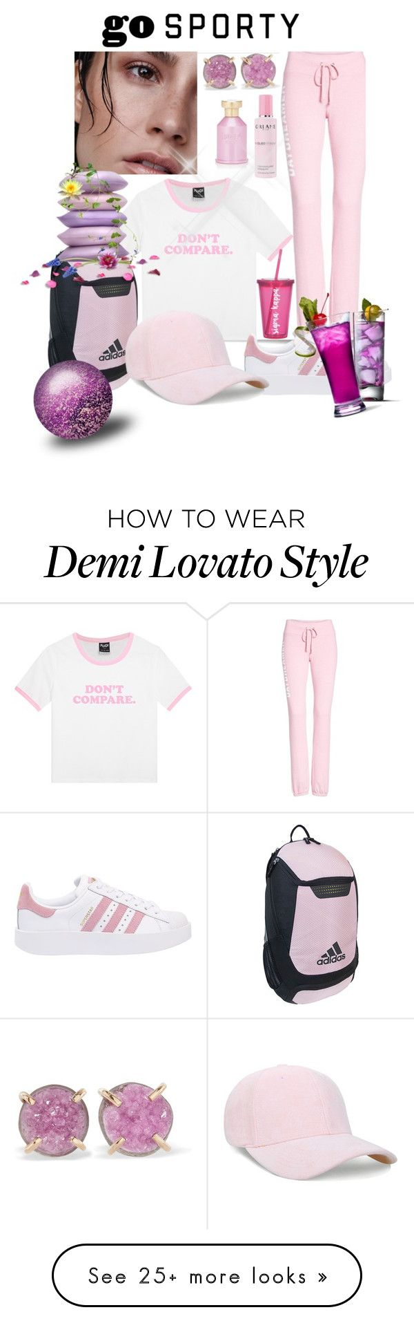"""Untitled #7876"" by princhelle-mack on Polyvore featuring Dream Scene, adidas Originals, adidas, Melissa Joy Manning, Orlane and Bois"