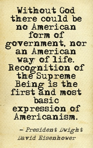 President Dwight David Eisenhower #quotes #America Blessed is the nation whose God is the Lord!