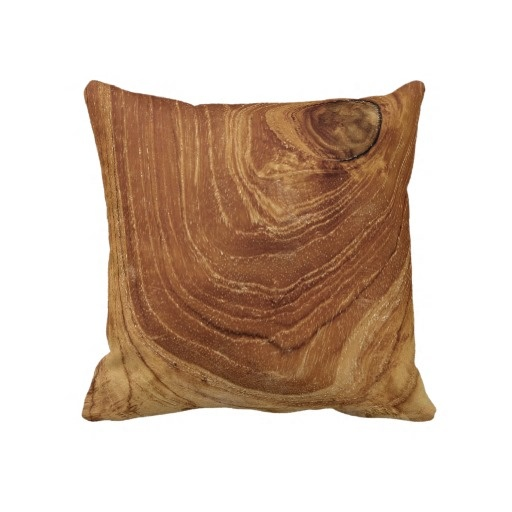 Teak Rustic Wood Grain  Cushion