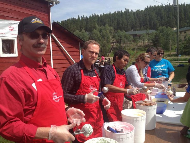#ThrowbackThursday!  Last summer the Tundra team helped out at Camp Kindle - KCCF and made some delicious ice cream sundaes.... mmm mmm mmm!