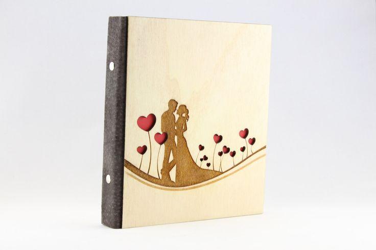 A4 A5 Wedding Ring Binder Wooden Organizer Scrapbook Laser