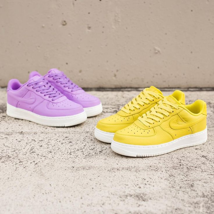 Sneakers women - Nike Air Force one purple citron (©suppastore)