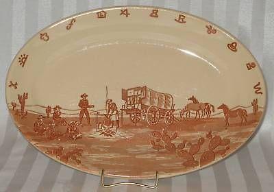 Wallace China CHUCK WAGON Platter EL PASO Hotel Supply