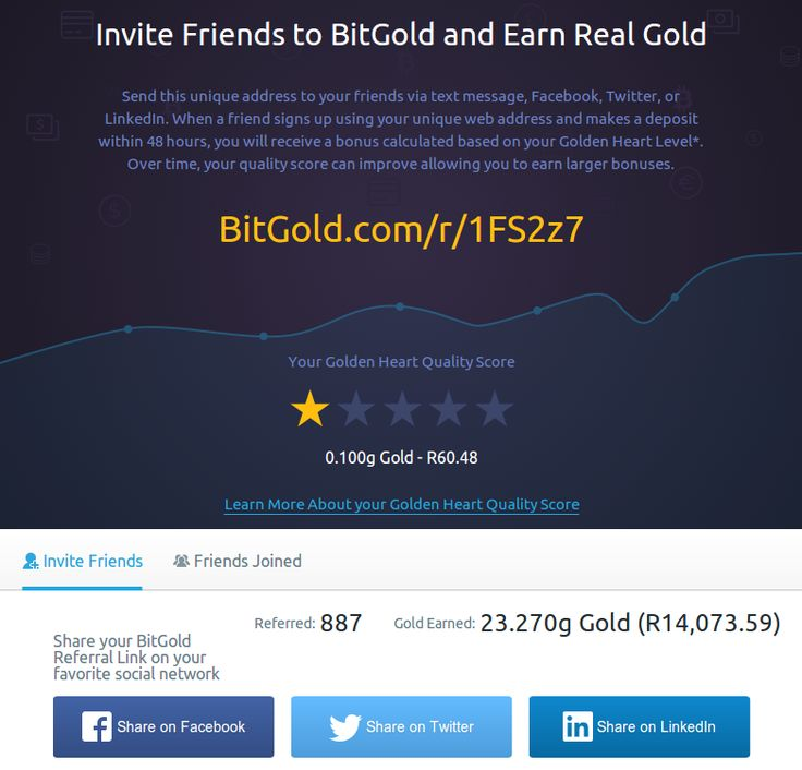 BitGold Affiliate Program
