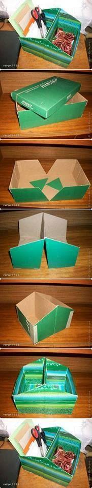 27 Ideas para reciclar Cajas de carton http://comoorganizarlacasa.com/27-ideas-reciclar-cajas-carton/