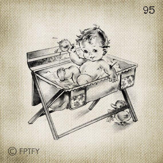 Adorable Vintage Unisex baby LARGE Digital Vintage Image Download Sheet Transfer To Totes Pillows Tea Towels T-Shirts 95. $2.00, via Etsy.