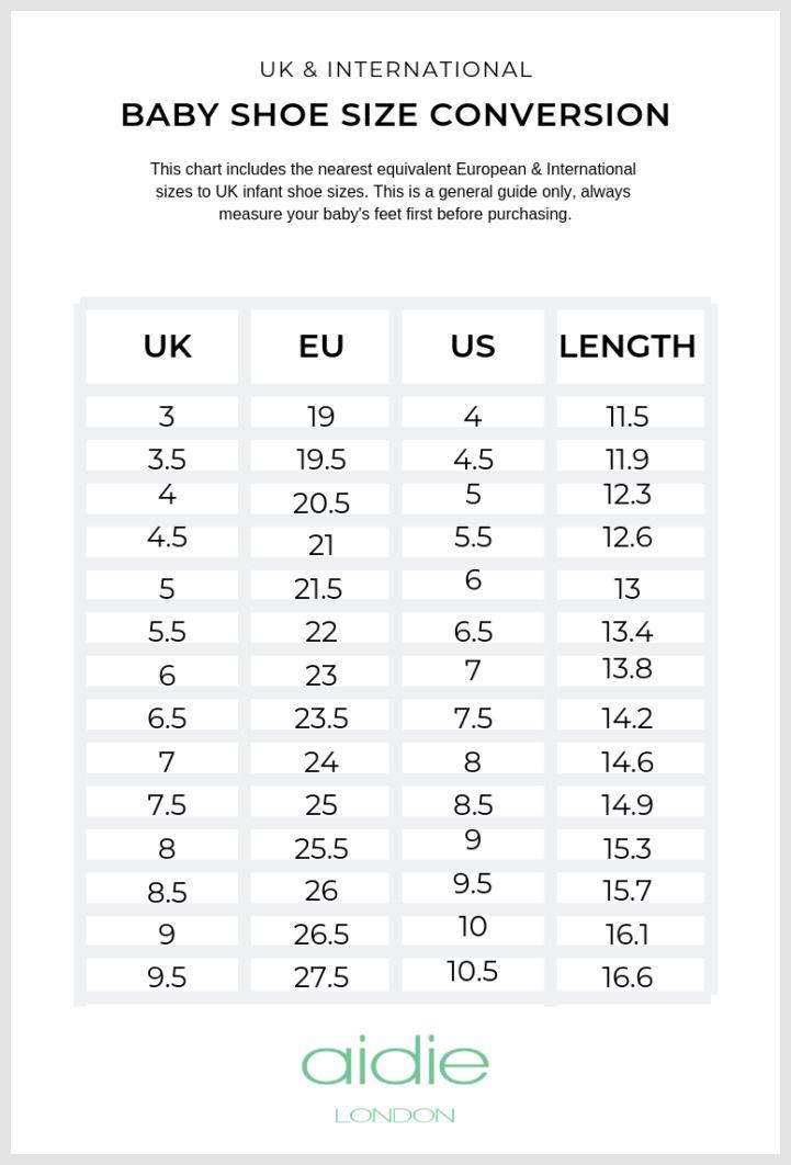 infant size 3 in eu