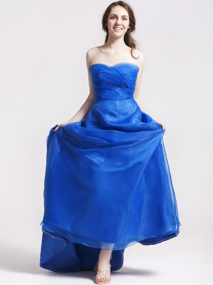 Sweetheart Neckline Organza Satin Bridesmaid Gown | Plus and Petite sizes available! Hundreds of styles, tons of colors!