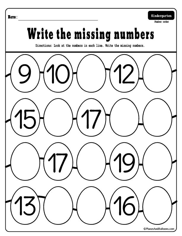 Missing numbers 1-50 worksheets for your Easter holiday