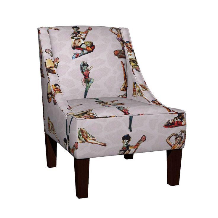 Venda Slipper Chair - #ZombiePinUp #Zombie #PinUp #Brain #Burlesque #Horror #Dead #Stitches #Stitch #Autopsy #Death #Undead #Monster #Pin #Up #PinUpZombie #Halloween #Halloween365