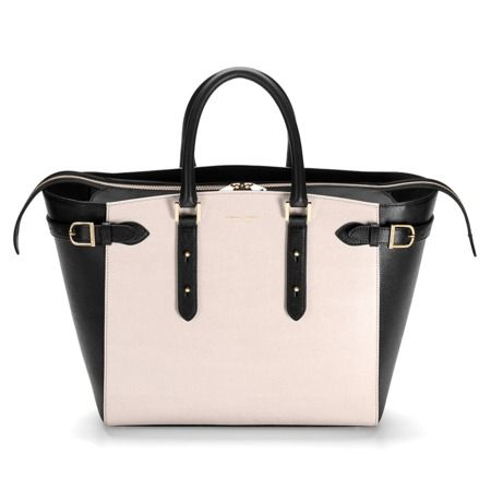 Marylebone Tote in Monochrome Saffiano from Aspinal of London £795